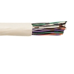 CAT3 25 pair 24awg FT6 Telephone Cable, White Jacket