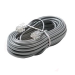 6 Conductor Telephone Line Cord, 15ft