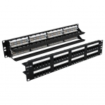Loaded, 48 Port 2U, CAT5E RJ45 Patch Panel