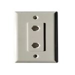 Hex Wallplate (Double Port/White)