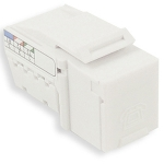 Category 3 Keystone Jack RJ45; 6 pin 6 connector, 110P Jack, White