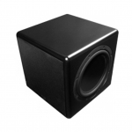 "Compact Powdered Subwoofer with 10""  driver and dual passive radiators, 250W  internal amplifier"