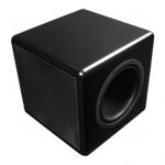 "Compact Powdered Subwoofer with 8""  driver and dual passive radiators, 150W  internal amplifier"