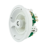 "2 Way In-Ceiling Speaker, 4.5"" White Glass Fiber Woofer, 0.75"", Titanium Swivel Tweeter"