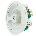 "2 way in-ceiling speaker, 6.5"" white glass fiber woofer, 1"" titanium swivel tweeter. 5 - 125 watts"