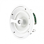 "2 Way In-Ceiling Speaker, 8"" White Glass Fiber Woofer, 1"" Titanium Swivel Tweeter"