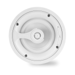 "2 Way In-Ceiling Speaker 6.5"" White Polypropylene Woofer, 1"" Silk Dome Swivel Tweeter"