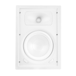 "2 Way In-Wall Speaker, 6.5"" Polypropylene Woofer, 1"" Silk Dome Swivel Tweeter"