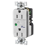 TVSS Duplex Receptacle with Light, Office White