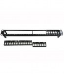 24-port, 1U, Modular Patch Panel, Black