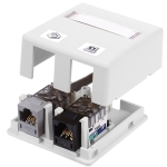 ISB 2-Port Surface Mount Box, WHITE