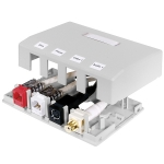 ISB 4-Port Surface Mount Box, WHITE