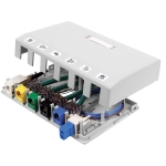 ISB 6-Port Surface Mount Box, WHITE