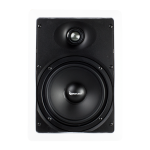 "2 Way In-Wall Speaker, 6.5"" Poly Woofer, 1"" Silk Soft Dome Swivel Tweeter"