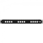 Blank Modular Patch Panel, 12 Port