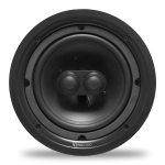"2 Way In-Ceiling Speaker, Dual Voice Coil, 8"" Injected Poly Woofer, Dual 1"" Silk Soft Dome Tweeters"