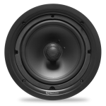 "2 Way In-Ceiling Speaker, 8"" Injected Poly Woofer, 1"" Silk Soft Dome Swivel Tweeter"
