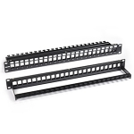 24-port Unloaded Patch Panel, 1U, 19""