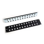 "48-port Unloaded Patch Panel, 2U, 19"" with rear cable manager"