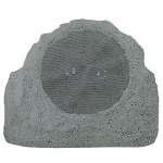 "2 Way Outdoor Rock-Shaped Speaker, Dual Voice Coil, 8"" Poly Woofer, Dual 1"" Titanium Tweeter"