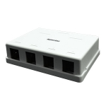 Surface Mount Housing Box, 4 Port