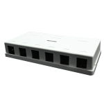 Surface Mount Housing Box, 6 Port