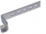 "Bracket, Aerial Trunk/Node, 11.5""L with  1"" x 3/8"" Slots, Aluminum, with Hardware"
