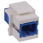 OPTICHANNEL™ Keystone Adapter, SC Simplex, Flush Mount, Zirconia, White