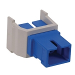 OPTICHANNEL™ Keystone Adapter, SC Simplex SM/MM, Zirconia, White