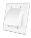 Double Gang Wallplate, Flat Panel TV Bulk Cable (White)